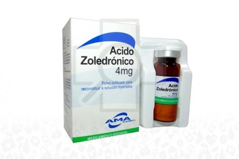 Ácido Zoledrónico 4 mg  Caja x 1 Vial  Polvo Liofilizado RX