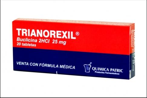 Trianorexil 25 mg Caja x 20 Tabletas Rx