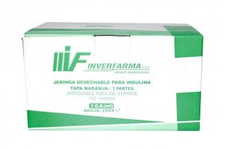 Jeringa Desechable Para Insulina Caja x 100 Unidades