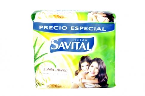 Savital Sábila y Avena Caja Jabón x 3 Unidades