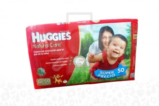 Etapa 3 G Pañal Huggies Natural Care Paca Con 50 Unidades