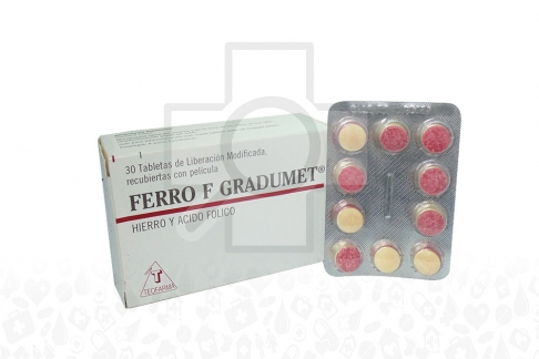 Ferro F Gradumet Caja Con 30 Tabletas De Liberación Modificada Rx