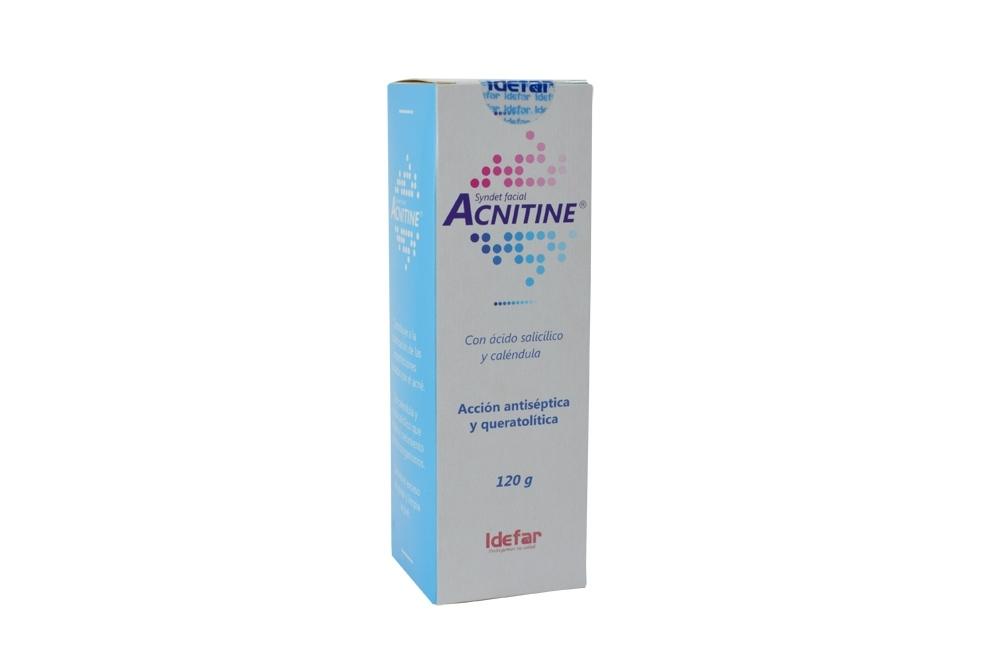 Acnitine Syndet Facial Caja Con Frasco Con 120 g