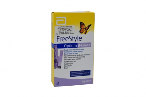 FreeStyle Optium B-ketone Caja Con 10 Tiras