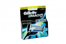 Repuesto Máquina Para Afeitar Gillette Mach 3 Caja Con 4 Cartuchos