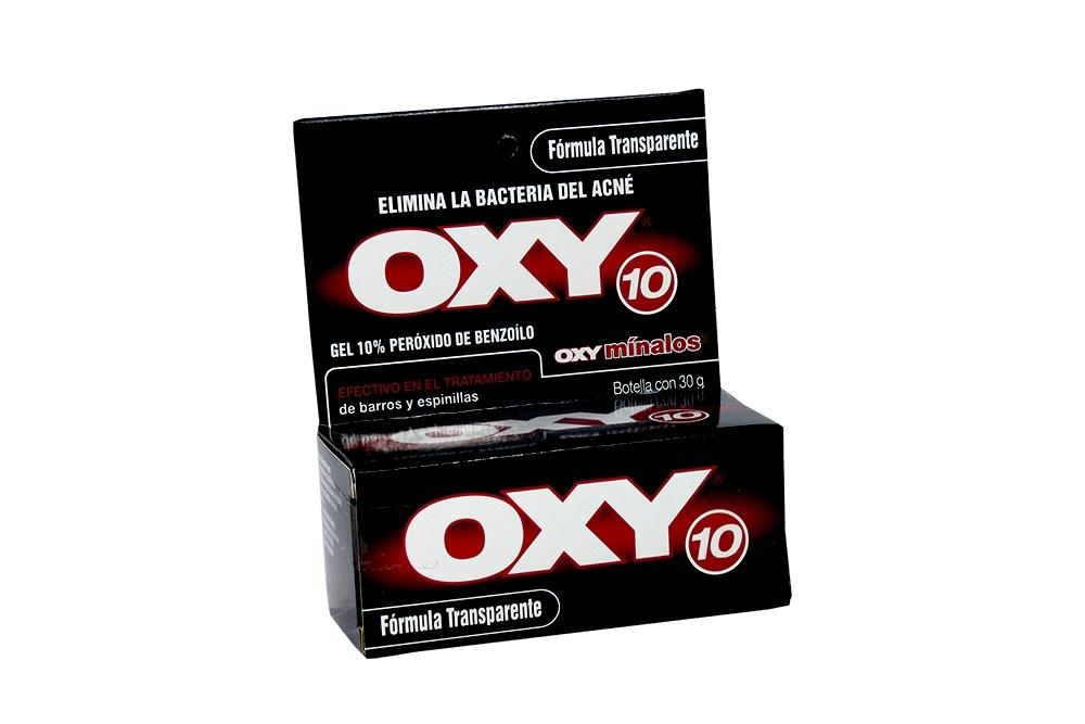 Oxy 10 % Transparente Caja Con Frasco Con 30 g