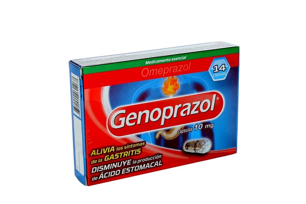 Genoprazol 10 mg Caja Con 14 Cápsulas