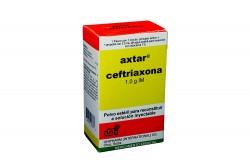 Axtar Polvo Estéril Para Reconstruir 1g Caja Con Frasco Con 1g + 1 Ampolla Con 3.5 mL Rx