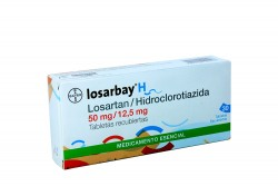 Losarbay H 50 / 12.5 mg Caja Con 30 Tabletas Rx4