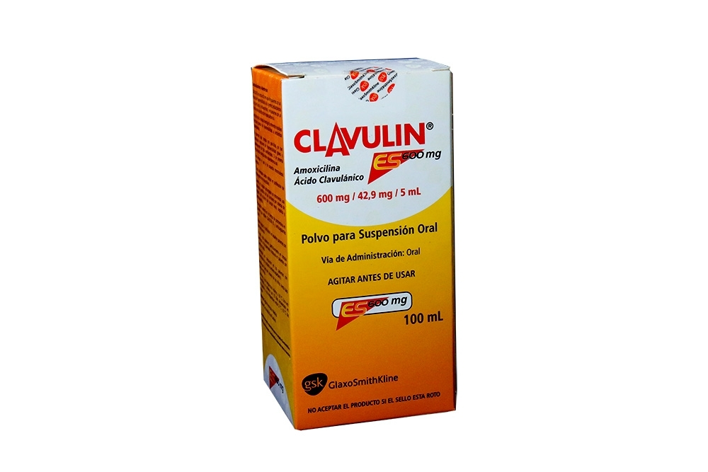 Clavulin En Polvo 600 / 42.9 mg / 5 mL Caja Con Frasco Con 100 mL Rx2
