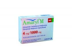 Amaryl M 4 / 1000 mg Caja Con 16 Comprimidos Recubiertos Rx4