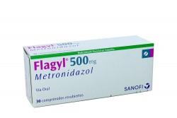 Flagyl 500 Mg Caja X 30 Comprimidos Recubiertos RX