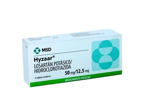 Hyzaar 50 / 12.5 mg Caja Con 15 Tabletas Recubiertas Rx