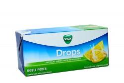 Vick Drops Pastillas Refrescantes Caja Con 24 Sobres Con 5 Pastillas C/U – Sabor Limón