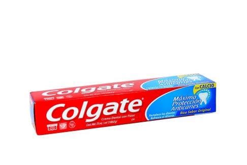 Colgate Crema Dental Sabor Original Caja Con Tubo Con 75 mL