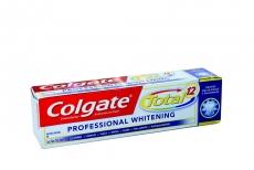 Crema Dental Colgate Total 12 Professional Whitening Caja Con Tubo Con 75 mL