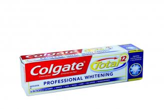 Crema Dental Colgate Professional Whitening Total 12 Caja Con Tubo Con 75 mL