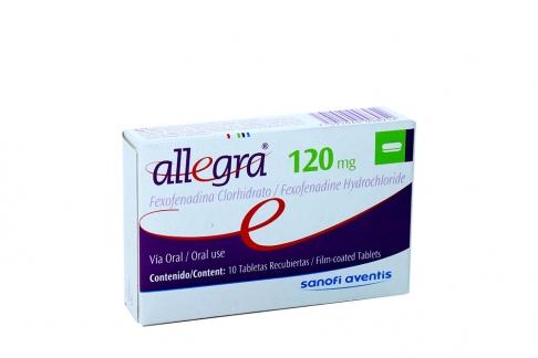 Allegra 120 mg Caja X 10 Tabletas RX