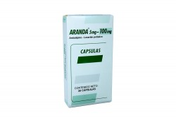 Aranda 5 / 100 mg Caja Con 30 Cápsulas Rx