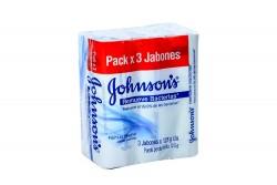 Jabón Johnson's Remueve Bacterias Empaque Con 3 Unidades Con 125 g