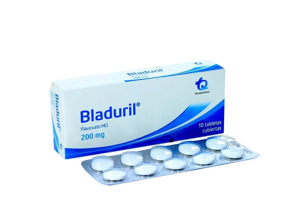 Bladuril 200 mg Caja Con 10 Tabletas Cubiertas Rx