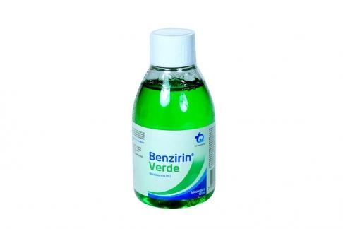 Benzirin Verde Solución Bucal Frasco Con 120 mL
