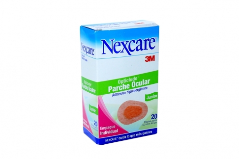 Opticlude Parche Ocular Junior Nexcare 3M Caja Con 20 Unidades