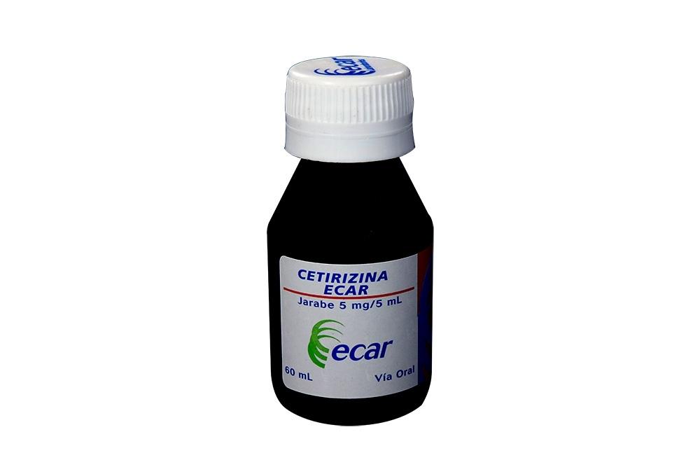 Cetirizina Ecar Jarabe 5 mg / 5 mL Frasco Con 60 mL Rx