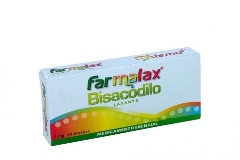 FARMALAX 5 MG X 10 GRAGEAS