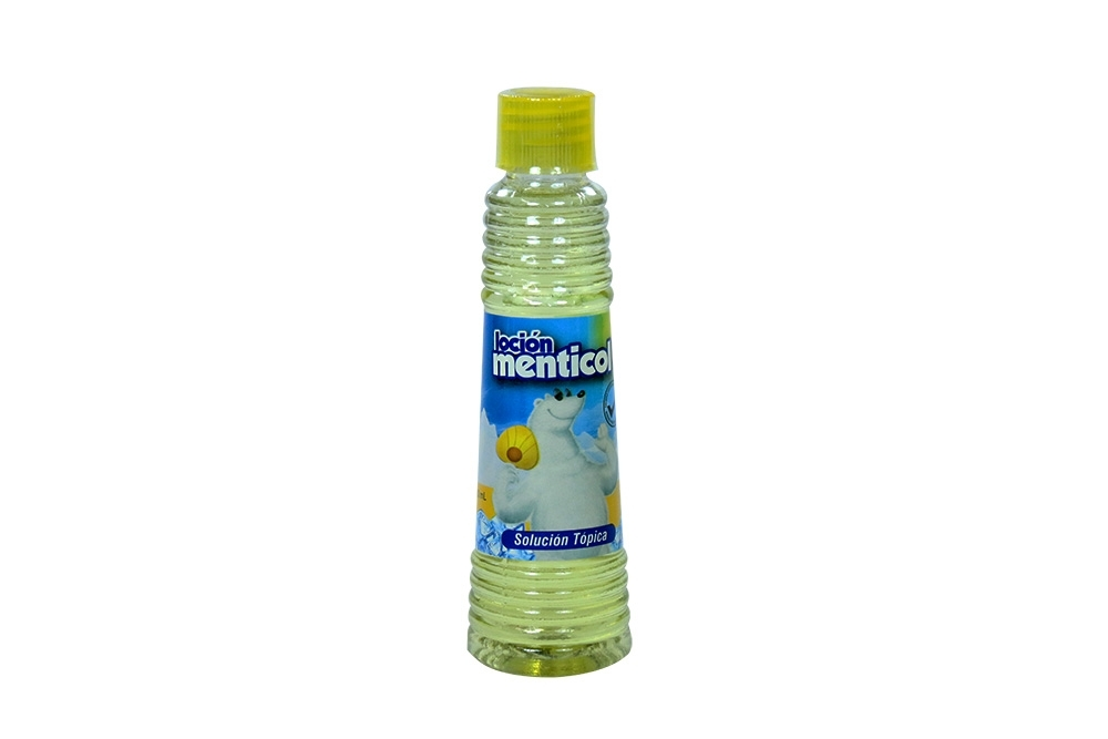 Loción Menticol Amarillo Mini Frasco Con 60 mL