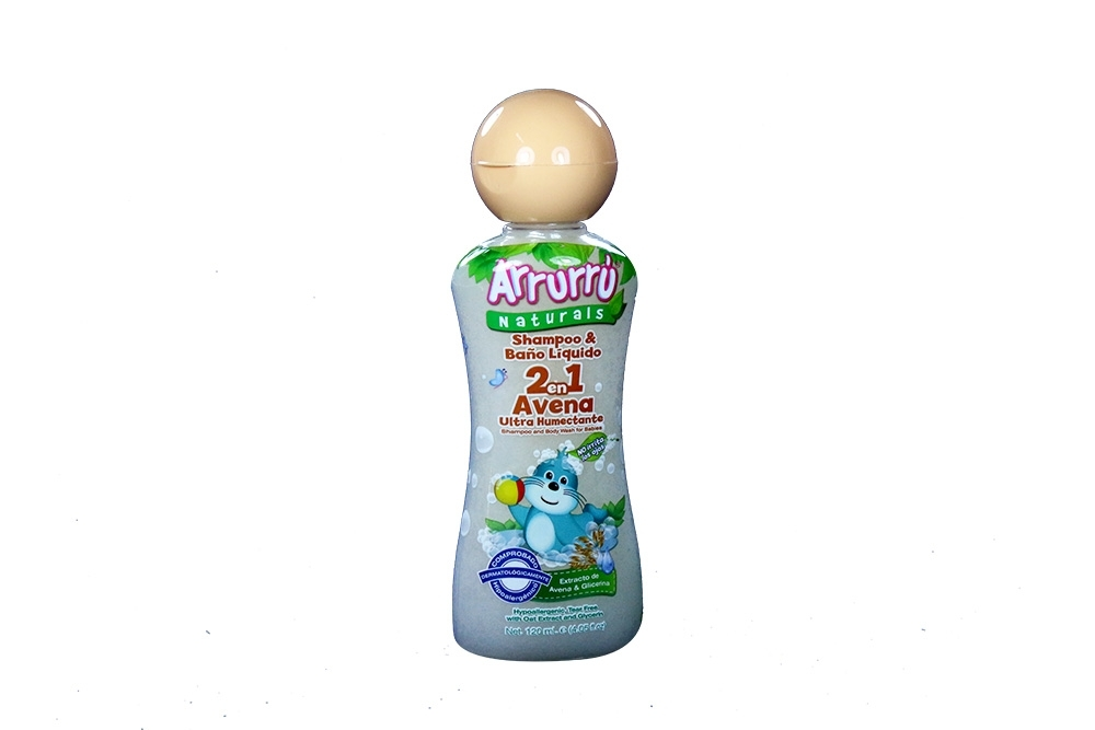 Shampoo Arrurrú Baño Líquido 2 En 1 Avena Frasco Con 120 mL