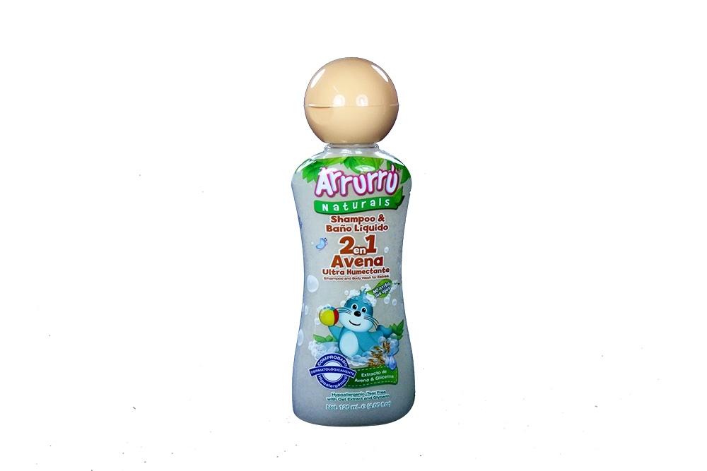 Shampoo & Baño Líquido Arrurrú Avena 2 En 1 Frasco Con 120 mL