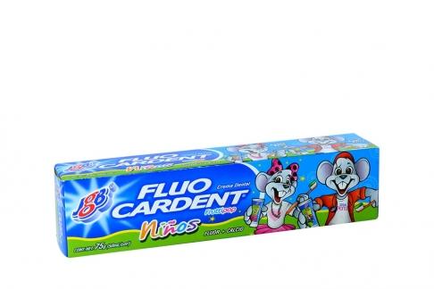 Crema Dental Fluo Cardent Niños Sabor Tutti Frutti Caja Con Tubo Con 50 g