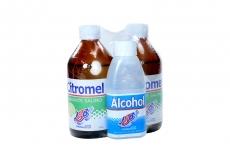 Citromel Laxante Salino Empaque Con 2 Frascos Con 310 mL C/U + Alcohol Antiséptico