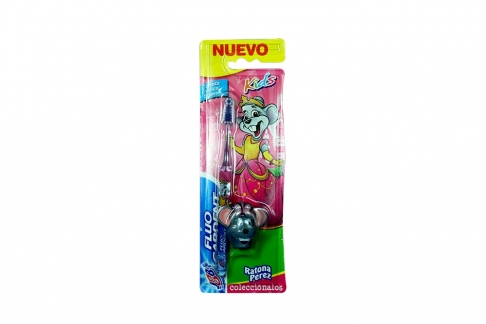 Cepillo Dental Fluocardent Ratona Perez Empaque Con 1 Unidad