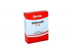 Sildenafil 50 mg Caja Con 2 Tabletas Recubiertas Rx