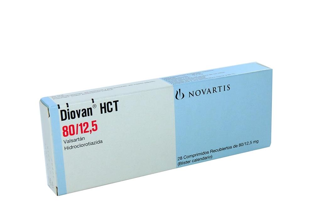 Diovan Hct 80 / 12.5 mg Caja Con 28 Comprimidos RX4