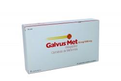 Galvus Met 50 mg / 1000 mg Caja Con 28 Comprimidos Recubiertos Rx4