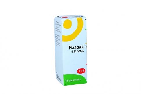 Naabak Solución Oftálmica 4.9 % Caja Con Frasco Con 5 mL Rx