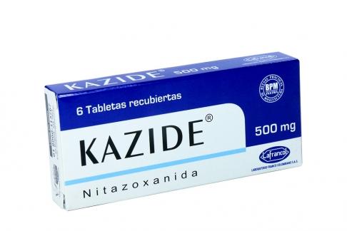 Kazide 500 mg Caja x 6 Tabletas Recubiertas Rx