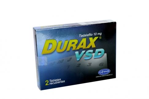 Durax VSD 10 mg Caja Con 2 Tabletas Recubiertas Rx
