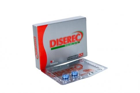 Diserec 50 mg Caja Con 4 Tabletas Rx