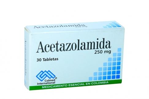 Acetazolamida 250 mg Caja Con 30 Tabletas Rx