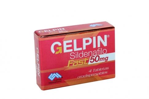Gelpin Fast 50 mg Caja Con 4 Tabletas Rx