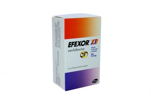Efexor XR 75 mg Caja Con 30 Cápsulas de Liberación Prolongada Rx4  Rx1