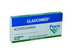 Glaucomed 250 mg Caja Con 10 Tabletas Rx