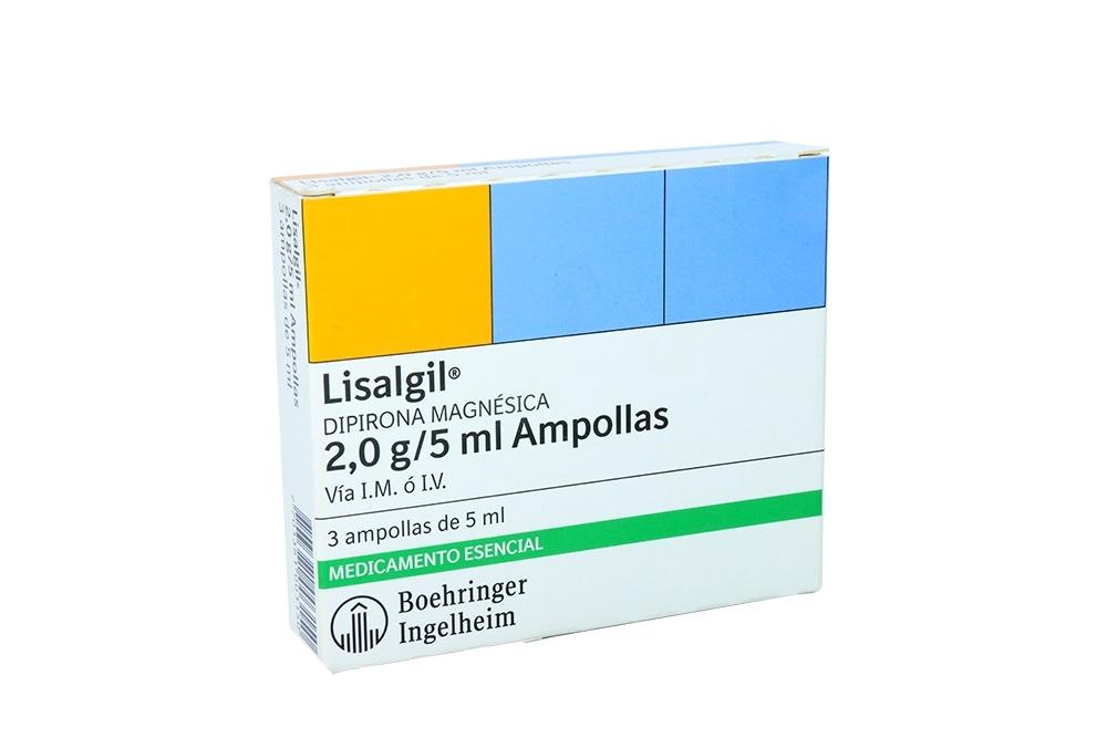 Lisalgil Inyectable 2 g / 5 mL Caja Con 3 Ampollas Rx