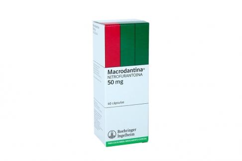 Macrodantina 50 mg Caja Con 40 Cápsulas Rx Rx2