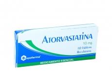 Atorvastatina 10 mg Expofarma Caja Con 10 Tabletas Recubiertas Rx