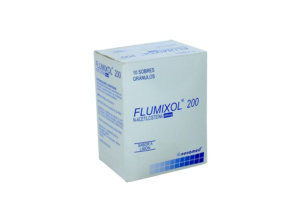 Flumixol 200 mg Caja Con 10 Sobres Gránulos – Sabor Limón